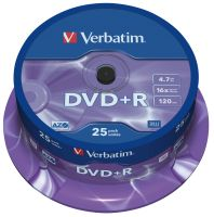 Verbatim DVD+R 4,7GB 16X 25er SP